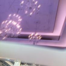 メガネごしで見た式場の電球
