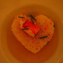 蟹のあんかけご飯がハート。