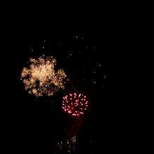 最後の打ち上げ花火です。