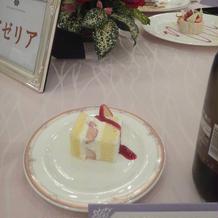 ケーキカットのケーキも。