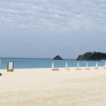 目の前のプライベートビーチ