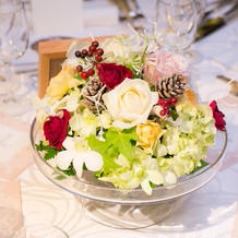 ゲストテーブル飾花