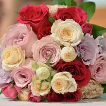 お花はボリュームあって満足!