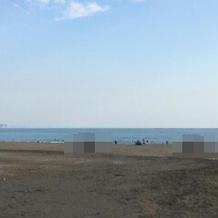 式場近くから見える海