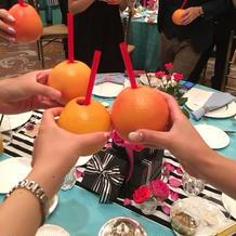 オレンジで乾杯しました!