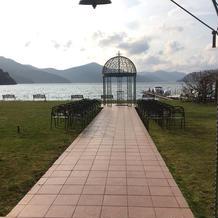 曇りで芦ノ湖が綺麗には見えませんでした