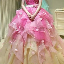 カラードレスも可愛いです