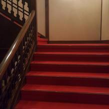 明治時代からある階段です。