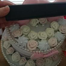 友人制作のフェルトウェディングケーキ