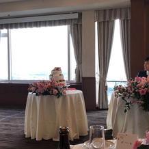 ホテル最上階の披露宴会場☆