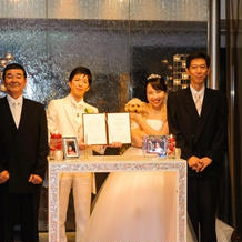 結婚証明書の承認署名