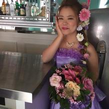 ラプンツェル風ドレスです。