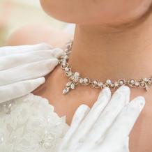 式場で借りたネックレスです