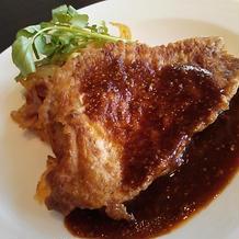 豚肉のピカタ マスタードソース