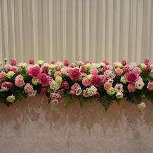 プラン内で色の希望をした装花