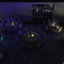 披露宴会場でプラネタリウム