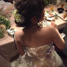 ドレス・ヘアアレンジ