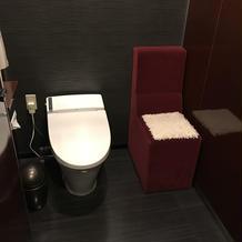 女性用トイレ。着物の人のために広い。