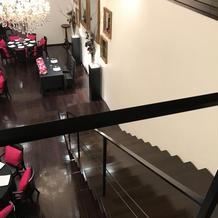 披露宴会場。大階段からの眺め。