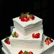 見た目にはわからないスポンジ硬めのケーキ