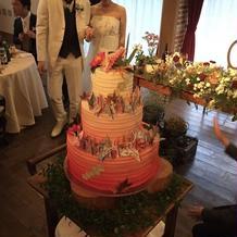 和をイメージしたオリジウェディングケーキ