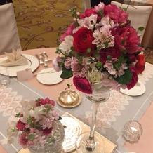 ゲスト卓の装花です