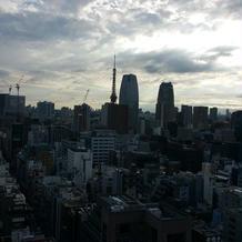 披露宴会場の景色東京タワー
