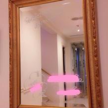 鏡にメッセージ