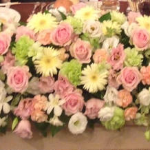 高砂席のお花。
