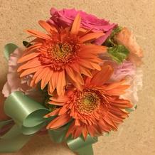 当日使ったお花を持ち帰れます