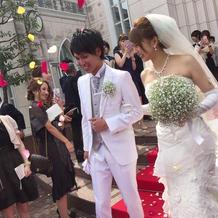 結婚式最高でした!