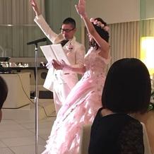 選手宣誓風に結婚の宣誓をしました