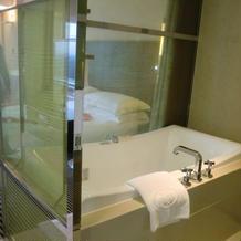 特典で宿泊できる部屋のバスルーム