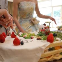 ゲストによるケーキトッピング