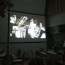 披露宴会場の映像