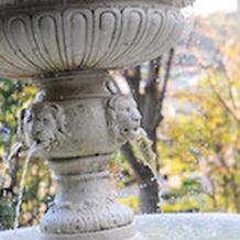 ガーデンの噴水