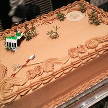 田植えをイメージしたケーキ
