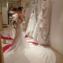 プラン内のマーメードドレス