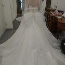 当日の白ドレス