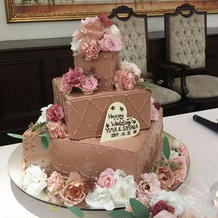 チョコ好き新婦のための特別オーダーケーキ