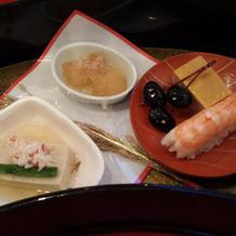 お寿司・豆腐・田楽・黒豆・数の子