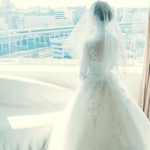 レンタルのドレス。小物は全部持ち込み