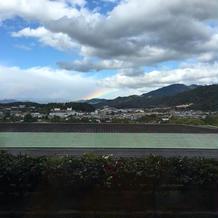 会場の窓からの景色