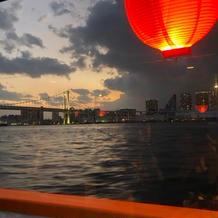 屋形船からの夕焼け