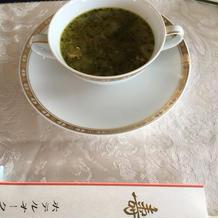 バジル風味のミネストローネスープ