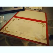 結婚証明書には、天使の羽根が!