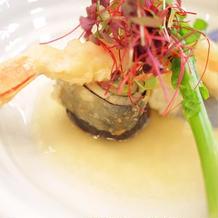 ララシャンスオリジナルのお魚料理。
