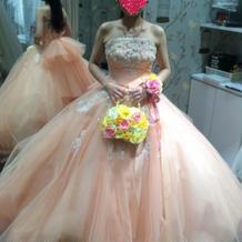 当日着用したカラードレス
