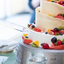 フルーツたっぷりのケーキ