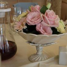 各テーブルの花です